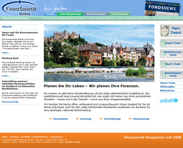 Website Finanzsozietät Marburg