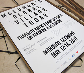 Poster für die Tagung McLuhan's Global Village Today